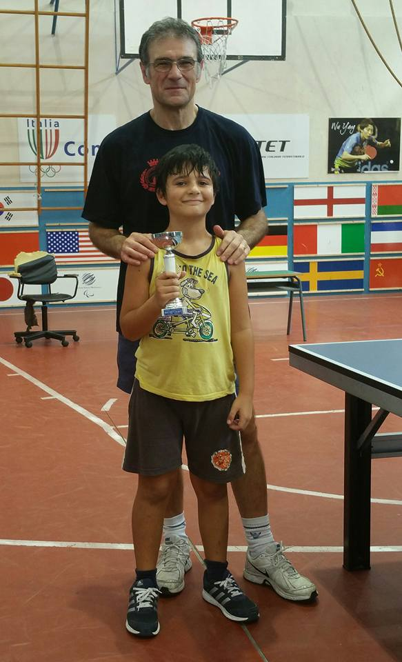 .....Davide Casa' (vincitore torneo under 10)