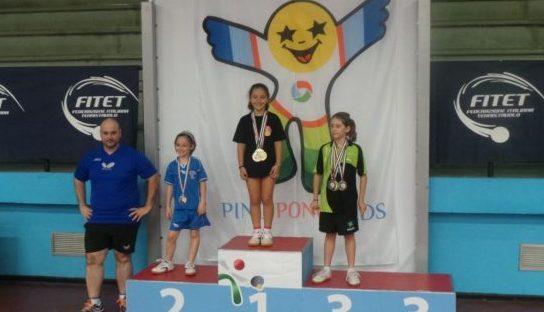 Ping Pong. La giovanissima termitana Giulia Palmisano vince a Terni la finale nazionale del trofeo teverino di tennistavolo 2015
