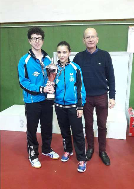Angelo Di Lisi e Chiara Onizzi Squadra campione regionale categoria Juniores