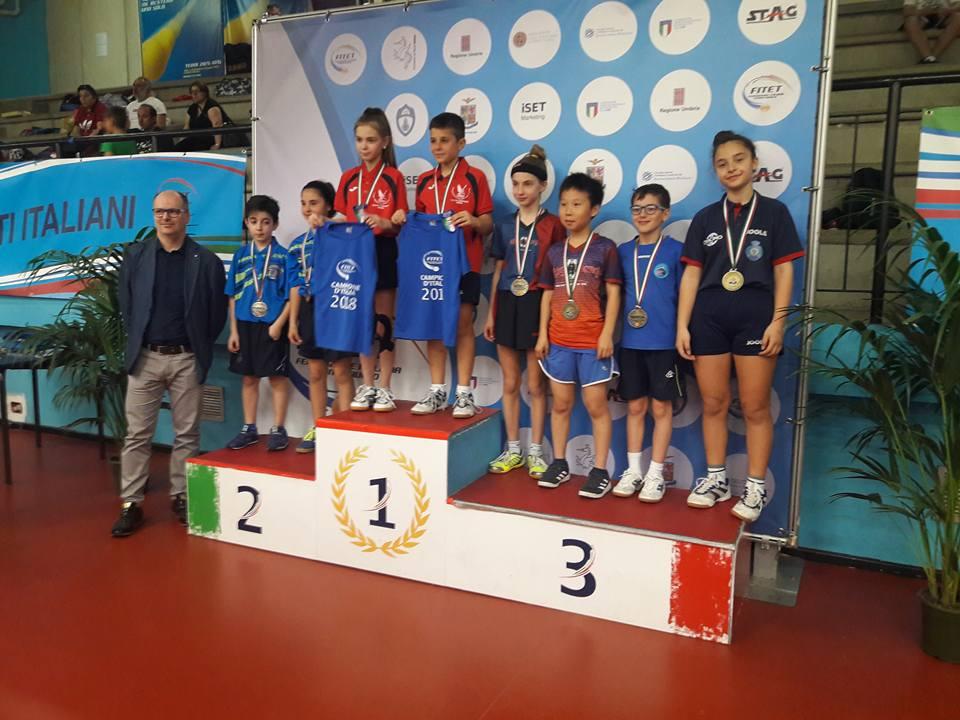 premiazione doppio misto campionati italiani giovanissimi