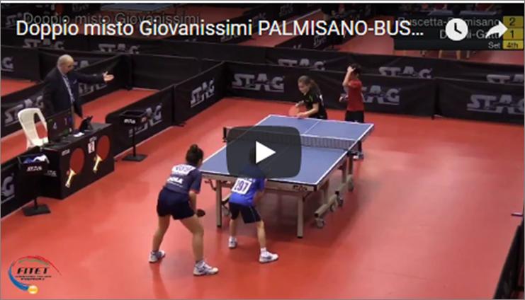 Doppio misto Giovanissimi PALMISANO-BUSCETTA Campionati italiani giovanili 2018