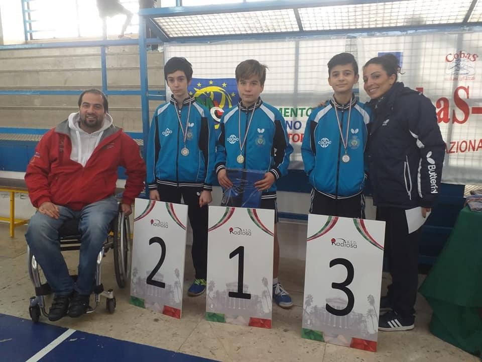 Elia Cefalù: Campione Provinciale Cat. Allievi 2018-2019; Pietro Violante II CL.; Davide Casà III CL.