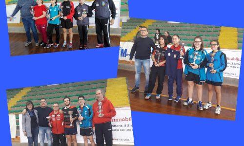 Campionati Regionali di Tennistavolo di Categoria 2018-2019