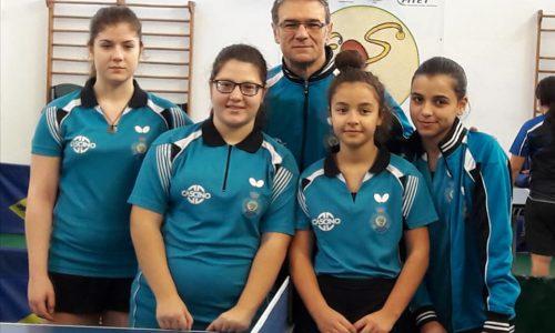 """L'ASD TT Himera G. Randazzo """"Cascino"""" Squadra Vincitrice Campionato Serie C Femminile e Campione Regionale 2019."""