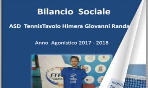 Bilancio Sociale ASD TT Himera Giovanni Randazzo anno agonistico 2017/2018
