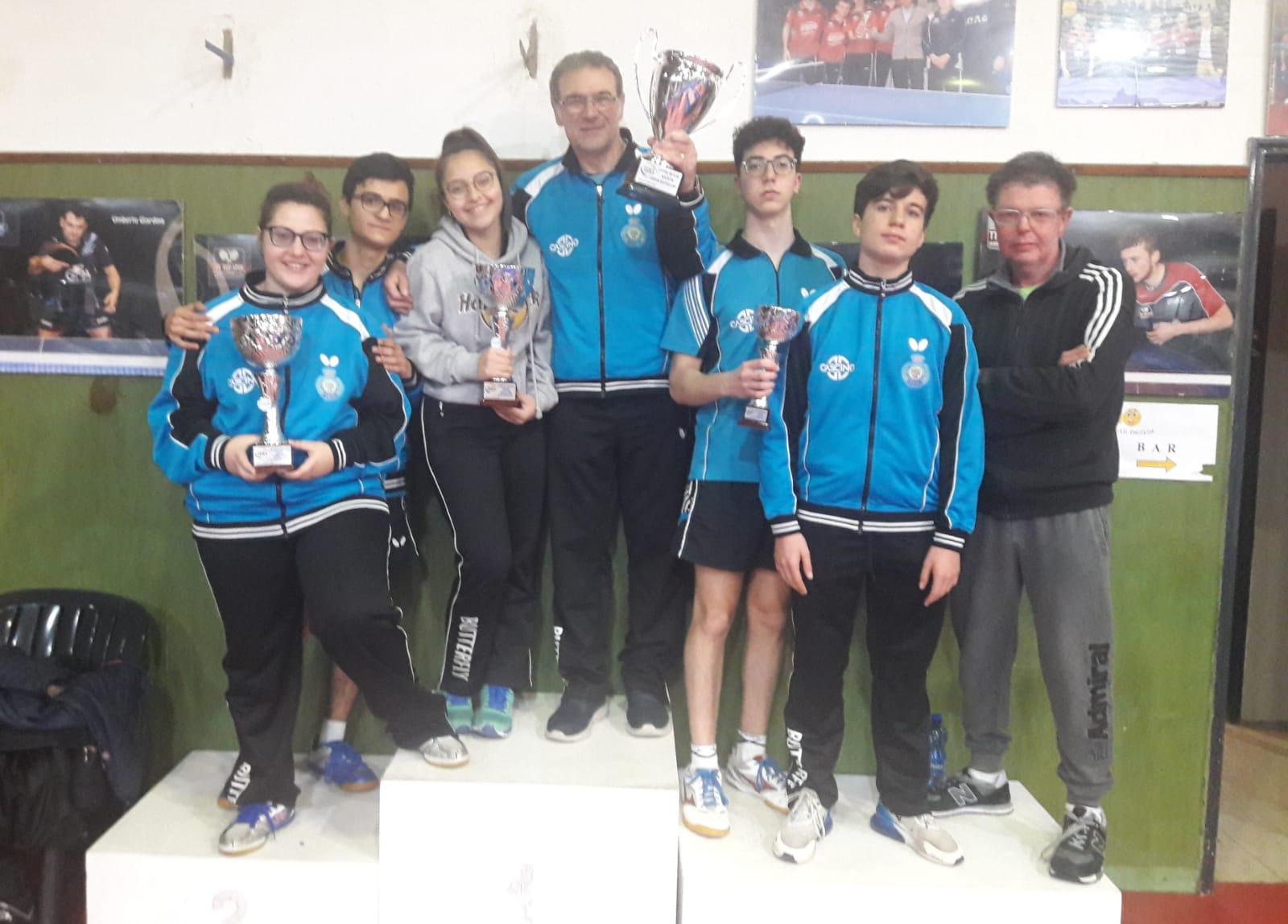L' ASD Tennistavolo Himera Randazzo Prima Società nel settore giovanile dell'isola, conquista la Coppa Sicilia