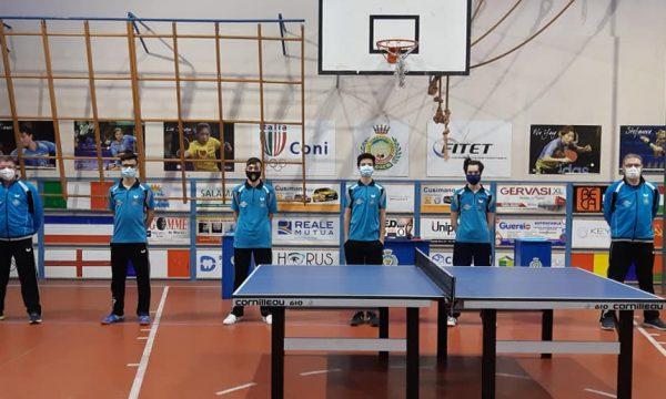Campionato Nazionale a Squadre di Serie C1 Maschile A.S.D. Tennistavolo Himera G. Randazzo.  contro la Top Spin-Carrubamia